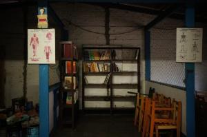 La bibliothèque à notre arrivée
